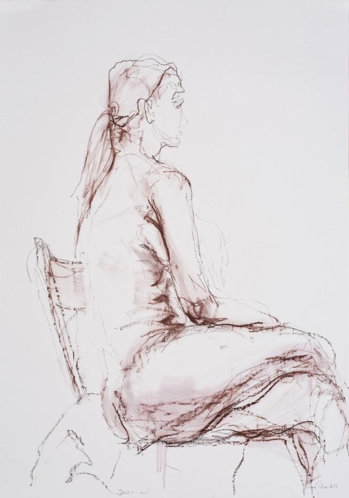 Lucia mit Stuhl (Profil)