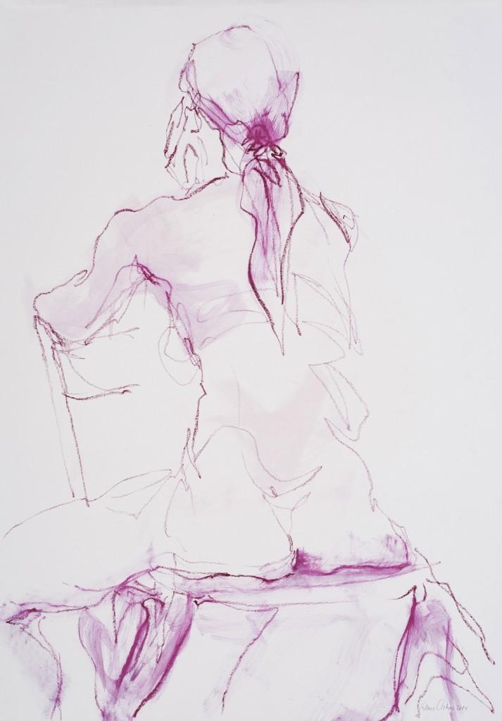 Lucia mit Stuhl (Rückenansicht)