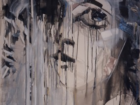 Öl, Tusche und Acryl auf Leinen Leinen-Collage 220 x 128 cm 2015